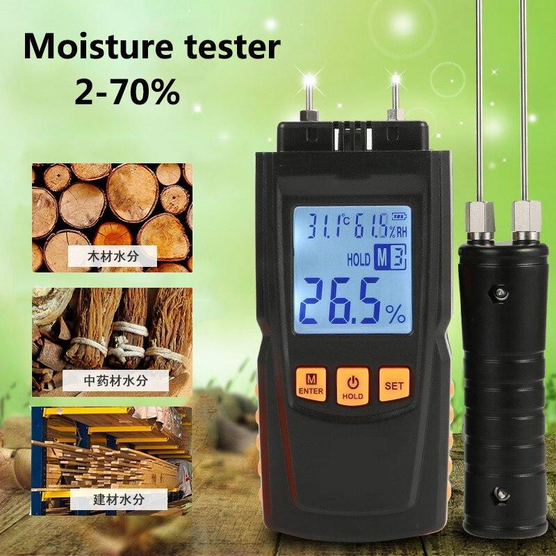 High-precision Lcd Digital Display Holz Feuchtigkeit Tester Karton Boden Feuchtigkeitsgehalt Luftfeuchtigkeit Messgerät Detektor Werkzeuge Messung Und Analyse Instrumente