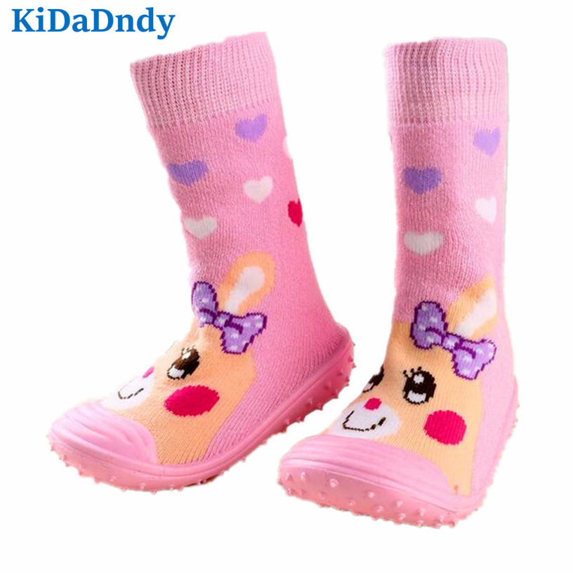 Floor Shoes Newborn Anti Slip Baby Socks Cotton Learning To Walk Baby Socks With Rubber Soles Infant Sock Ws9251R