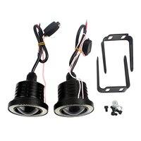 2Pcs LED COB Lights Car Fog Lamps Universal Angel Eyes Automobile Daytime Running Lights DRL Car