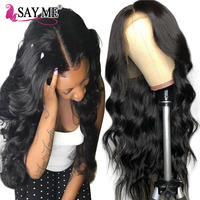 180% Density Glueless Lace Front Human Hair Wigs For Black Women Brazilian Remy Body Wave Lace Front Wig Pre Plucked & Baby Hair