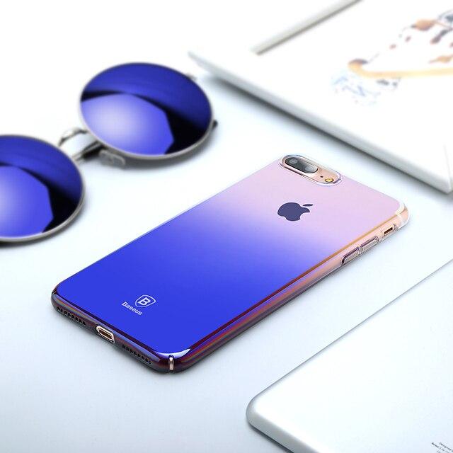 Baseus Luxury Plating Gradient Hard Plastic Case for iPhone 7 7 Plus 8 8 Plus (Ultra Thin PC Case)