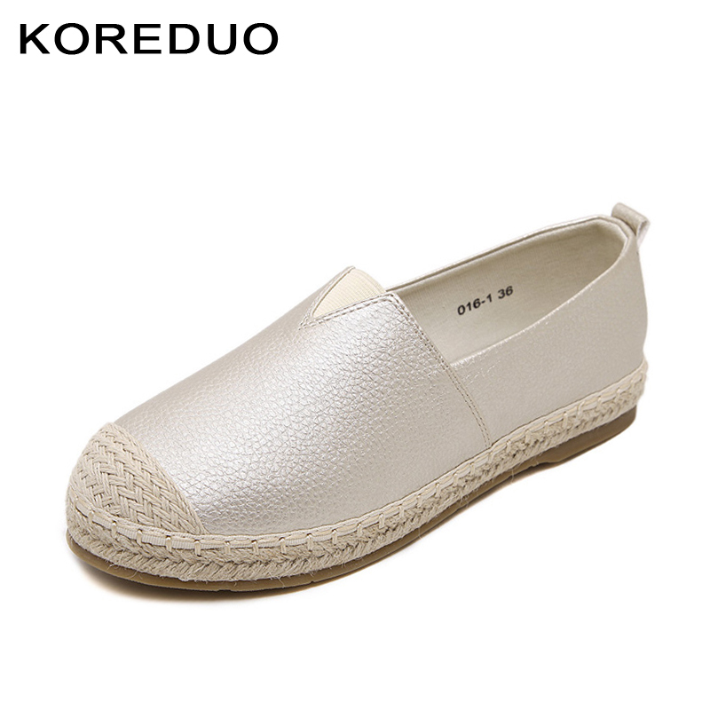 KOREDUO spring women loafers cane hemp straw fisherman flat heels shoes espadrilles woman lazy flat zapatos mujer size 33-43 msw suojialun spring women loafers cane hemp straw fisherman flat heel shoes woman slip on casual fashion flower shoes