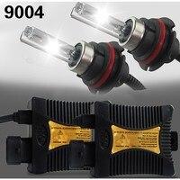 55 W 9004 HB1 HL HID Xenon Conversion KIT Lâmpadas luzes Do Carro Da Lâmpada lastro 12 V Autos Automoveis 4300 K 3000 K grátis navio