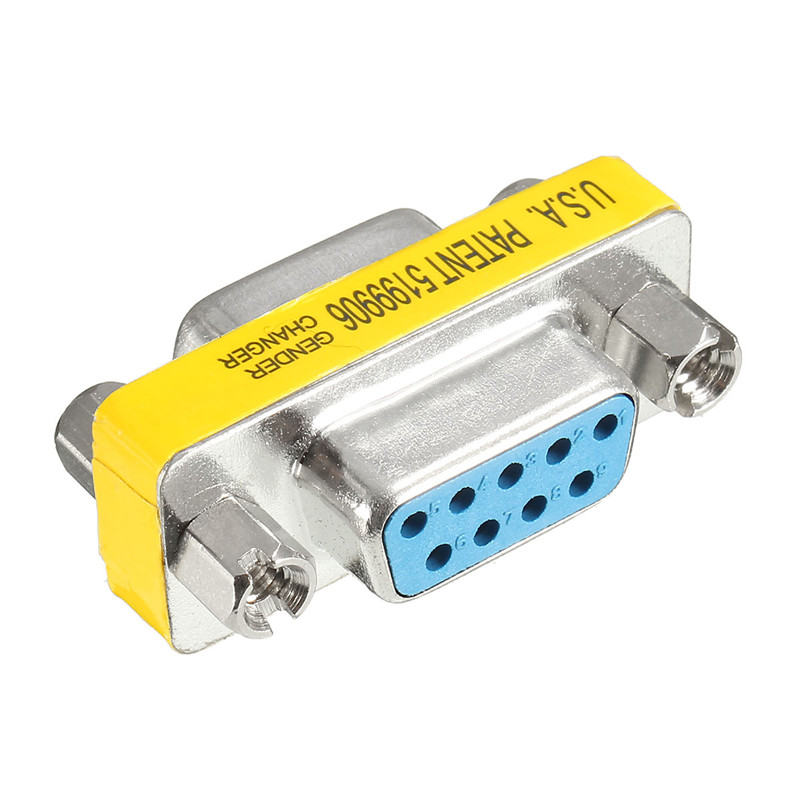 Factory Price 10 pcs RS232 Serial Port Connector DB9 Female Socket/Plug Connector 9pin Copper RS232 COM Socket Adapter gilding socket usb to rs232 data converter virtual serial port virtual com port virtual 232 adapter for windows8