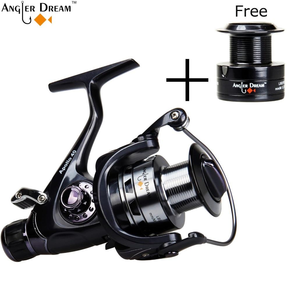 Spinning Fishing Reel Double Brake Carp Fishing Feeder 10BB Spinning Reel 5.5:1 Quality Carp Fishing Reel 3000 4000 5000 6000 dk 6000 spinning fishing reel 11bbs 5 2 1