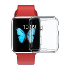 Полноэкранный мягкий ТПУ прозрачный защитный чехол для Apple Watch Series 2/3