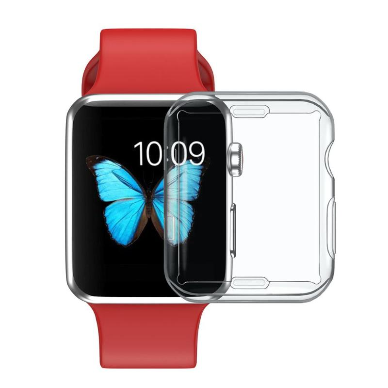 Full Screen Soft TPU Clear Protectve Case Cover For Apple Watch Series 2/3