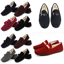 US Size Mens Real Leather Winter Loafer Fur Lined Warm Moccasins Casual Plush Snow Lazy Boat Shoes