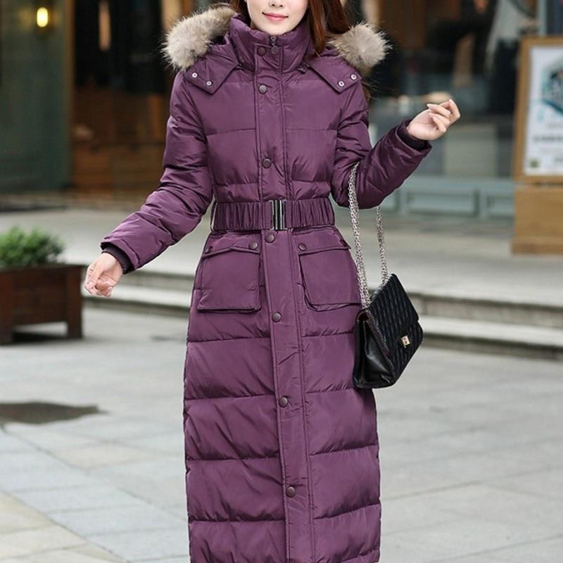 Veste Purple Coupe Bas black Col Femmes camouflage D'hiver Camouflage Survêtement X Parka Vers Femelle Le Chaud Grande Dame Des long Taille Manteau vent Fourrure De Bp7HFqO