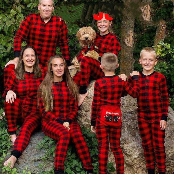 41ade2dff583 PUDCOCO Newest Family Matching Christmas Red Plaid Pajamas Sets Women Baby  Kids Bear Sleepwear Nightwear Cotton Tee Pants