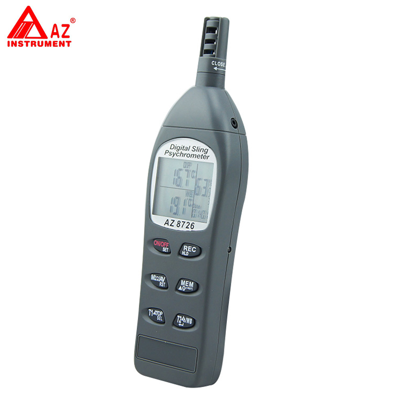 AZ-8726 Pocket Temperature/Humidity/Dew Point Meter/Wet Bulb Temperature Humidity Meter temperature and humidity sensor protective shell sht10 protective sleeve sht20 flue cured tobacco high humidity