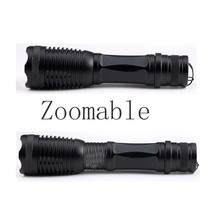 Hot LED Flashlight XM-LT6 9500LM 5 Mode Zoomab Torch Hunting Luz Flash Tactics 18650 Battery Gift Headphones