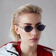 2019 Metal Oval Sunglasses Women Mirror Classic Retro Vintage Street Beat Eyewear Men Driving Oculos De Sol Gafas HOMMES UV400
