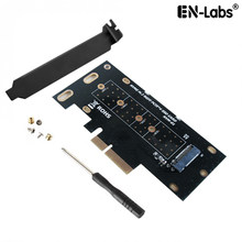 M.2 NVME SSD PCIe x4 Card Converter, 2230,2242, 2260,2280 NVM Express Pci-E Adapter x4, x8, x16 Slot w/PCI Cover Montagebeugel(China)