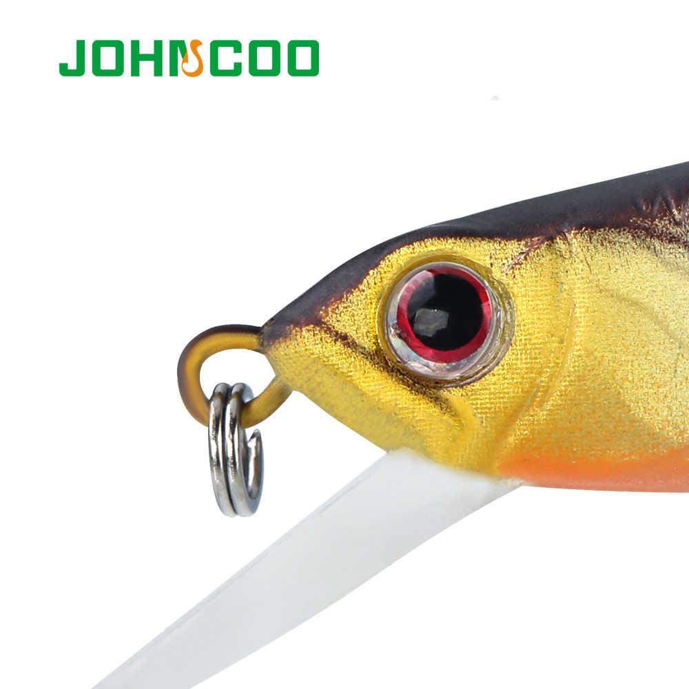 JOHNCOO غرق طعوم صيد سمك البلمة 90 ملليمتر 8.7 جرام الصلب إغراء الطعم الاصطناعي 3D عيون Wobblers الاصطناعي الطعم البلم باس بايك