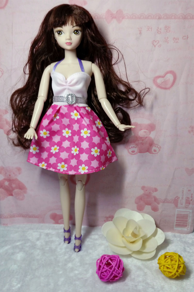 Doll Equipment Pink Flower Garments For Barbie Dollhouse Gown Celebration Robe Summer season Quick Clothes Vestidos for Barbie Doll