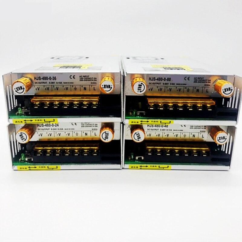 480W affichage numérique alimentation à découpage tension réglable limite de courant 0-24V 36V 48V 60v 80V 120v 220 v, 24v 20A, 48V 10a - 5