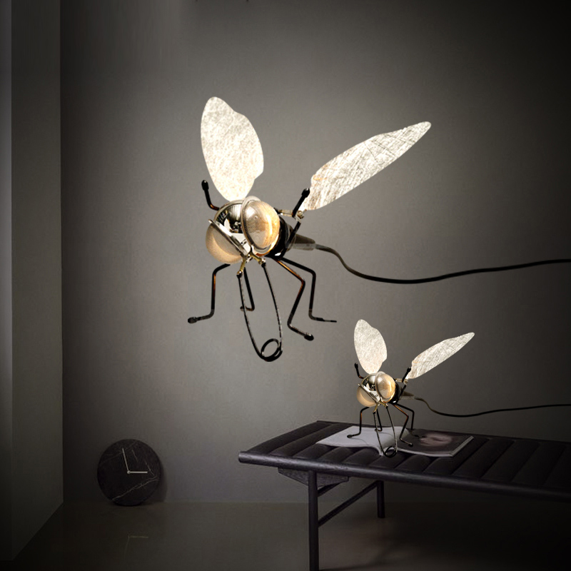 Creative wall lamp designer children bedroom LED personalized art living room decorative fly Mosquito wall lights