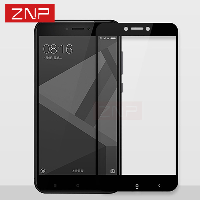 ZNP Tempered-Glass Full-Cover Xiaomi Redmi Note-4x Protector-Film for 4x9h