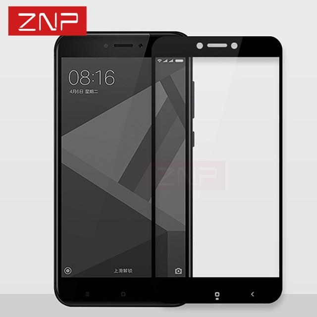 ZNP полный экран защитный закаленное стекло для Xiaomi Redmi Note 4X Redmi 4x9 H Защитная пленка для Redmi Примечание 4X стекло полное покрытие