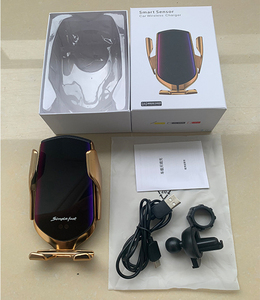 Image 5 - 10W R1 Automatic Clamping Car Wireless Charger For iPhone Huawei xiaomi Infrared Induction Qi Wireless Charger Car Phone Holder