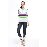 Life on track Women Tights Set Gym Sports Base Layers Running Fitness Cycling Suit High Quality Clothing Long Sleeve