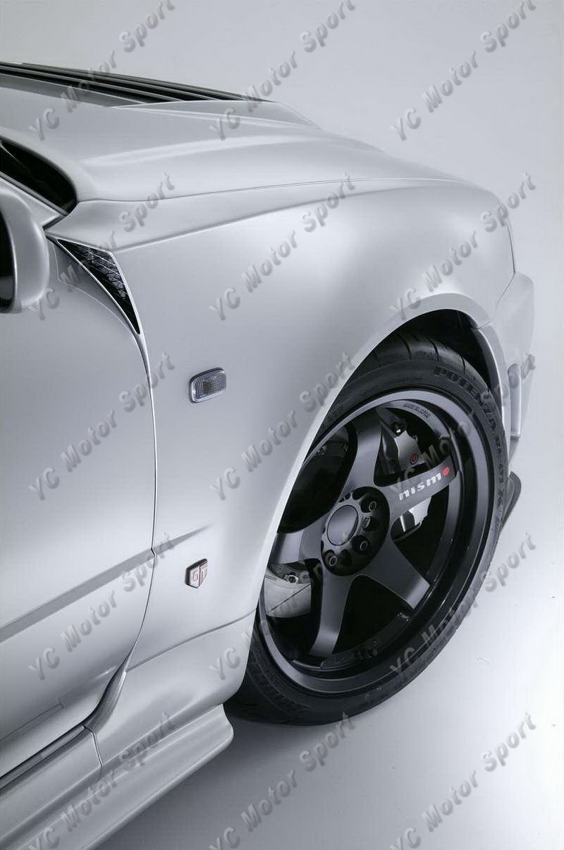1999-2002 Nissan Skyline R34 GTR Z-Tune Style Front Fender FRP (13)