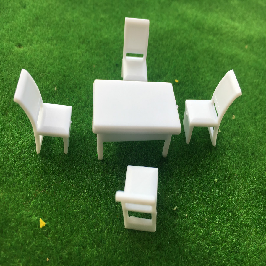 1//50 O Scale Miniatures Furniture Chair Table Model DIY Sand Table Building