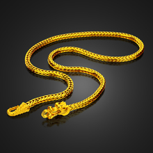 Men fashion rock gold necklace simple retro Chinese style dragon head necklace punk style thick 5MM 60cm chain jewelry wholesale cocotina personality punk style black fashion creative cross rock skull head retro watch wt0022