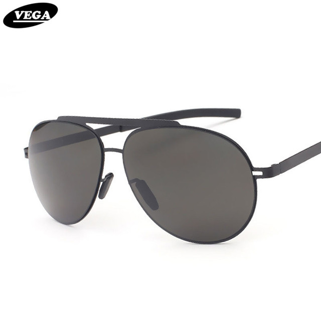 VEGA Classic Aviation Sunglasses Men Women Navy Air Force Sun Glasses  Stainless Steel Frame gafas de sol 8002