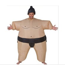 Hot sale ! Unisex Adult Costume For Halloween Inflatable Blown Up Sumo Wresting Suits One Size