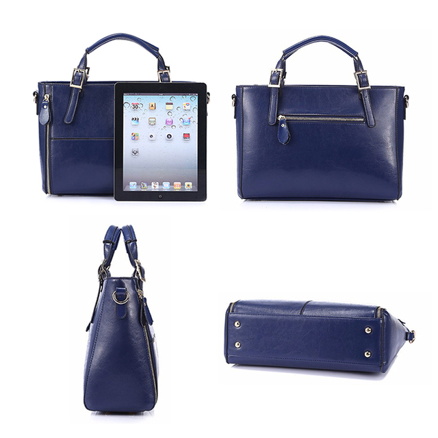 FUNMARDI Luxury Handbags Women Bags Designer Split Leather Bags Women Handbag Brand Top-handle Bags Female Shoulder Bags WLHB974 3
