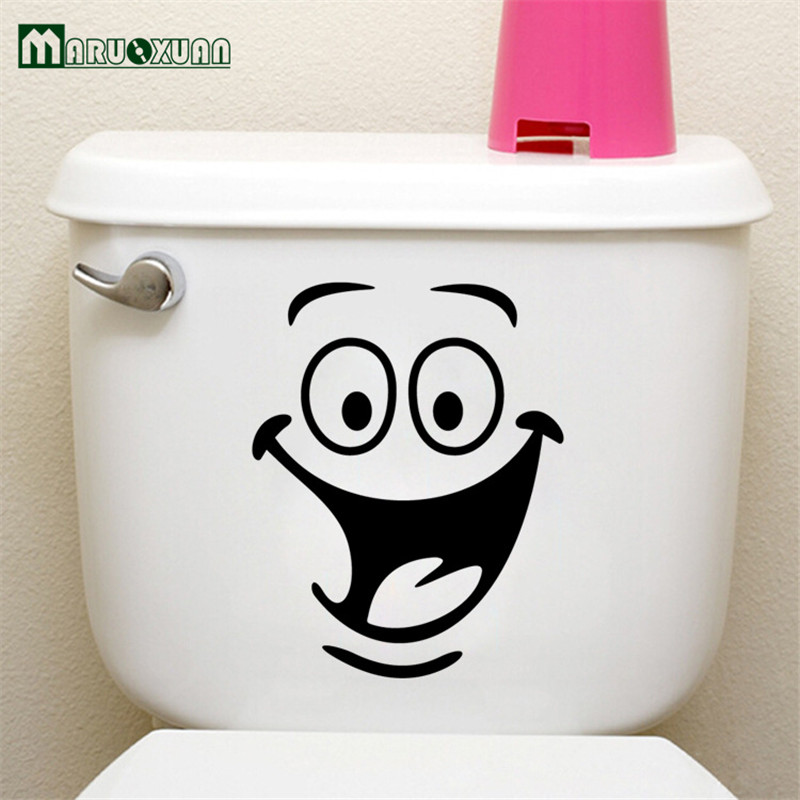 Foreign Trade Wall Post Toilet Decorate Children Room Bathroom Cabinets Stickers Generation Monochrome Anime In From Home Garden On