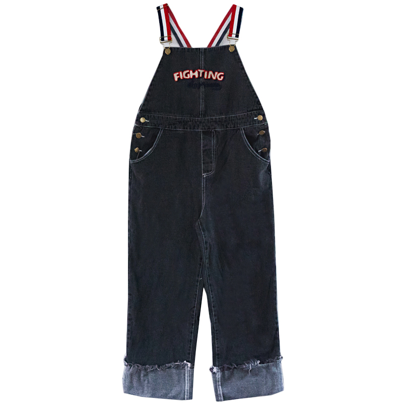 2019 New Women s Denim Jumpsuit Strap Jeans Casual Loose College Wind Women s Denim Overalls