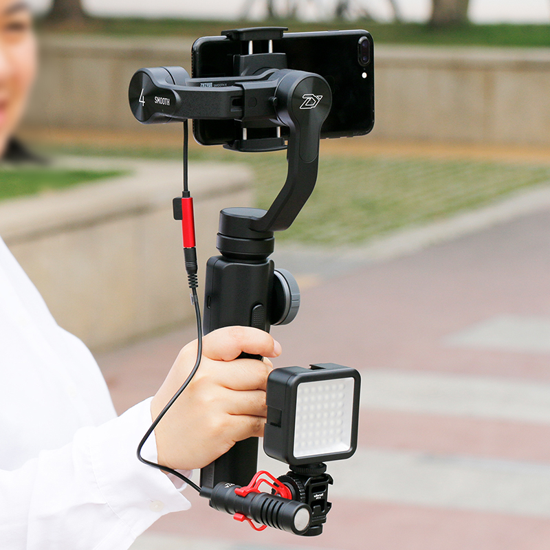 Zhiyun Smooth 4 Smooth Q 3-Axis Gimbal Stabilizer w Boya BY-MM1 Microphone for iPhone Samsung S9 S8 Xiaomi VS DJI OSMO Mobile 2 1