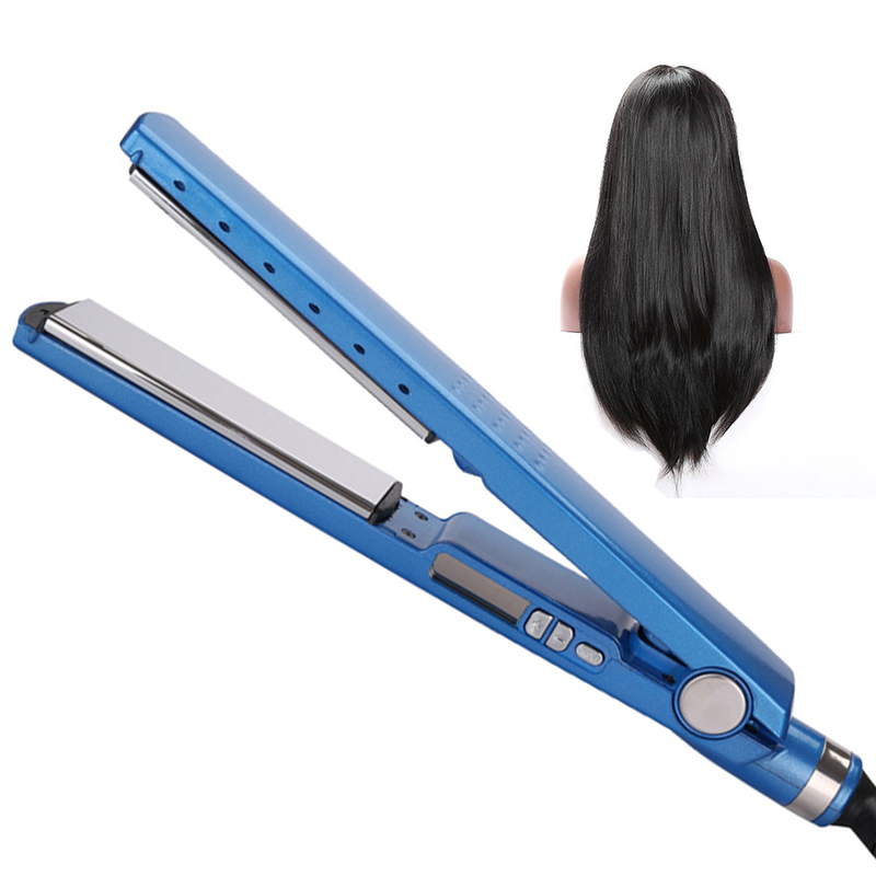 Professional Fast Hair Straightener Nano Titanium Blue Flat