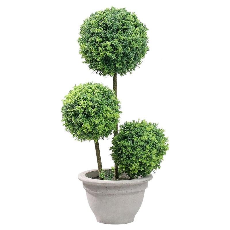 Nordique pastorale plantes artificielles herbe boule en pot grand bonsaï faux plantes bonsaï décoration artificielle fête fournitures