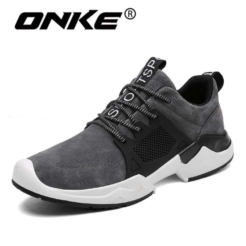 2018 Spring Autumn Sports Man Sneakers Velvet Comfortable Men Running Shoes Lace Up Shoes for Walking Outdoor Athletic Trainers onemix man running shoes for men athletic trainers black white zapatillas sports shoe outdoor walking sneakers free shipping