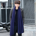 Autumn and winter color Korean knitting wool scarf male winter youth long collar men Lovers thickening