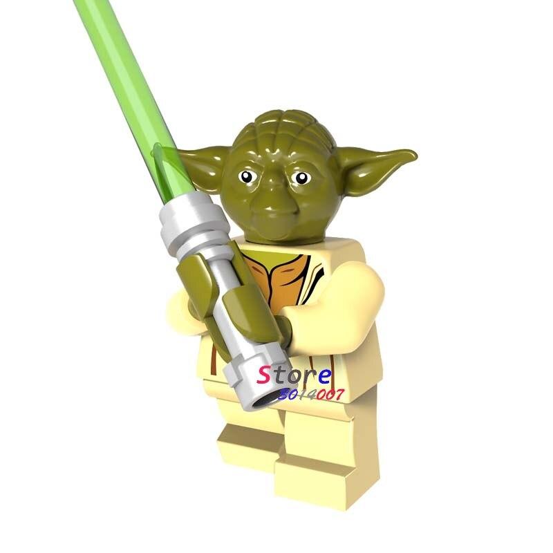 Single star wars Ewok yoda master super heroes marvel dc comics building blocks models bricks toys for children kits