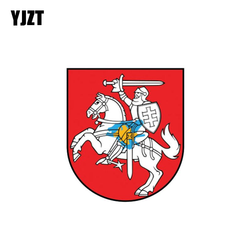 YJZT 11.5CM*10CM Car Accessories Lithuania Flag Coat Of Arms Car Sticker Reflective Decal  6 1086|Car Stickers|   - AliExpress