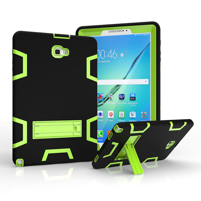 For Samsung Galaxy Tab A A6 P580 P585 10.1 inch Tatblet PC Case Cover Armor Shockproof Heavy Duty Silicon PC Stand Cover Cases