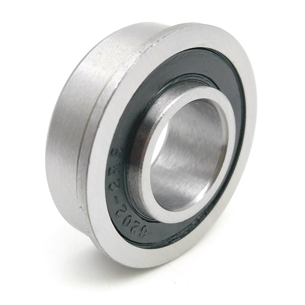 1pcs F6202 F6202RS F6202-16-2RS 16x35x11 MOCHU Flange Bearing Miniature Deep Groove Ball Bearing Sealed Ball Bearings 2016 new 624vv v groove sealed ball bearings vgroove 4x13x6mm 1 7mm deep sealing cover deep groove ball bearing