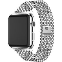 Banda para Apple Watch 38mm 40mm 42mm 44mm moda cuentas estilo correa de acero inoxidable para Iwatch 1, 2, 3, 4, reloj de pulsera de cinturón(China)