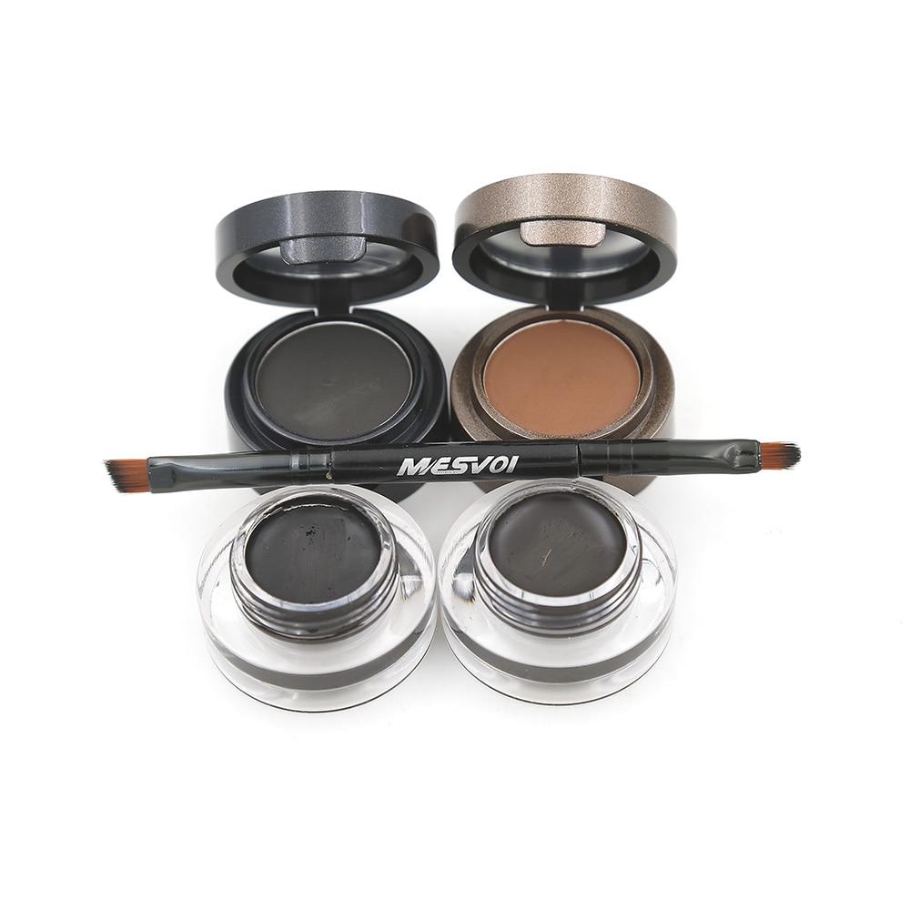 Eyebrow Powder Eyebrows +Eyeliner Gel Eyeliner Brown With ...