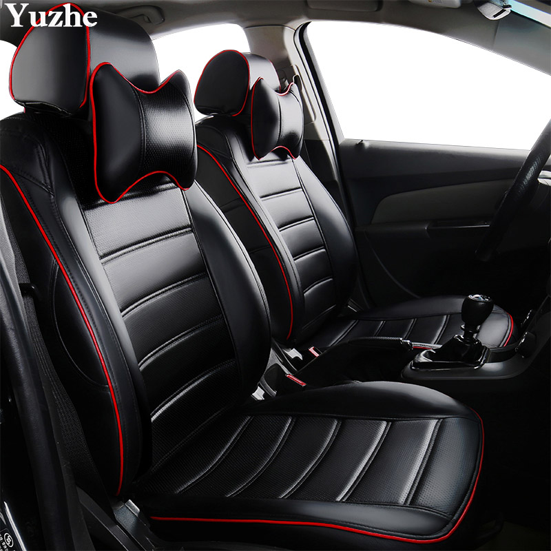 Front seat covers fit Volkswagen Tiguan VEST SHAPE VERLOUR  Red