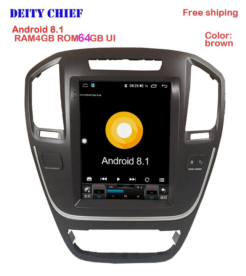 4GB 64GB android8 1 GPS car multimedia player for opel insignia Regal Tesla Vertical screen car