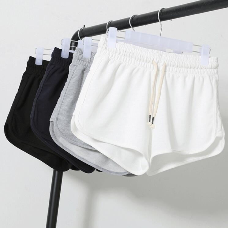 2017 Summer Fashion Street Shorts Women Elastic Waist Short Pants Women Loose Solid Cotton Soft Casual Short Womens