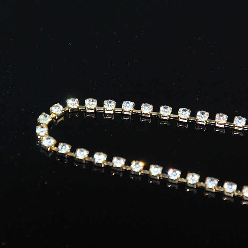 1 sztuk Sexy kobiety złoty kolor kryształu bransoletka na nogę uda ciała Bikini plaża uprząż lato nogi akcesoria łańcuszki do biżuterii x163