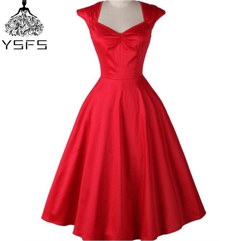 competitive price b7a56 7ab4d Nach Maß Rot Audrey Hepburn Retro 50 s 60 s Party Kleid V ...
